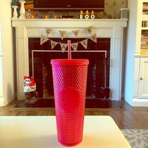 Starbucks Christmas 2019 Pink Studded Tumbler